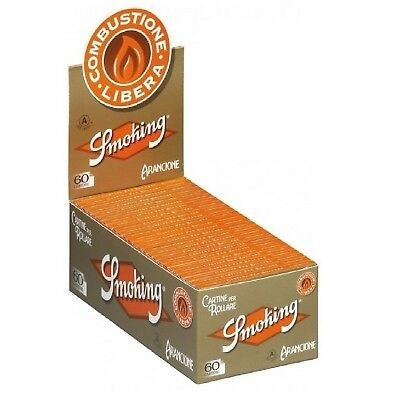 SMOKING CARTINA CORTA ARANCIONE 1 BOX DA 50 BLOCCHETTI DA 60 CARTINE  +accendino