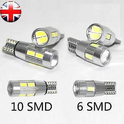 T10 501 W5W Car Side Light Bulbs Error Tree Canbus 6 &10 SMD Led Xenon Hid White