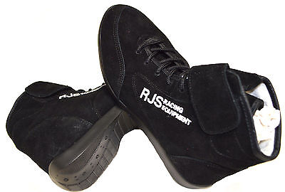 Rjs Racing Equipment Sfi 3.3/5 Racing Shoes Solid Black Mid Top Size 5