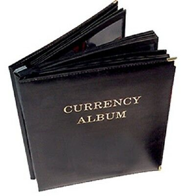 Banknotes Album For Large Currency Notes 3 Pockets Pages Leatherette Free USA