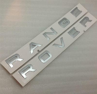 Genuine Range Rover Evoque Bonnet Boot Badge Letters *silver*