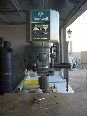 "Rockwell-Delta 1/2"" Radial Arm Drill Press; Bench Mount - Swivel Head - 110 V"