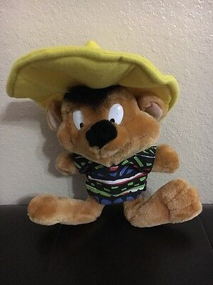 LOONEY TUNES WARNER BROS Speedy Gonzales mouse PLUSH STUFFED ANIMAL DOLL FIGURE