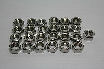 1/2-20 316 Stainless Steel Hex Nut ( lot of 25 ) New