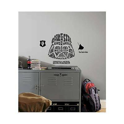 RoomMates Star Wars Typographic Darth Vadar Peel and Stick Giant Wall Decals