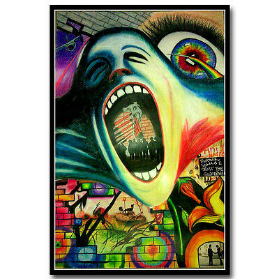 Pink Floyd Rock Music Band Psychedelic Art Silk Poster 12x18 inch