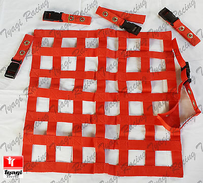 46*66 cm Red Window Net Car Racing Safety Equipment Off Road Rally Motorsport