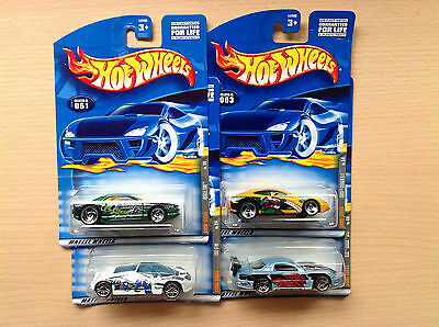 Hot Wheels Anime series COMPLETA 4 coches lote Año 2000