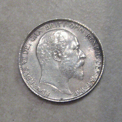 Silver Sixpence 1910 King Edward Vii Extremely Fine Grade