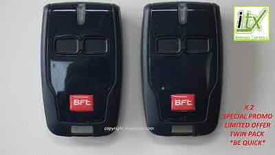 2 X BFT MITTO B2 Remote Control Key Fob Latest Version SPECIAL PROMOTION PRICE