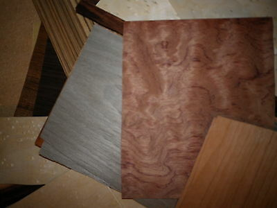 Odds and Ends Mix of wood veneer 65 plus  pieces of a  wide selection