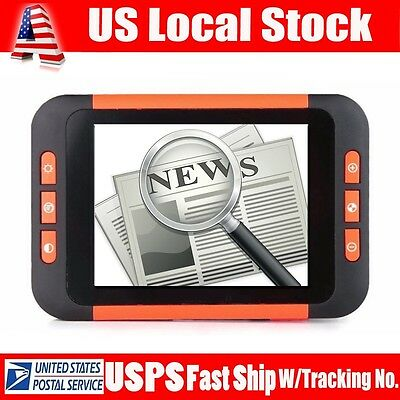 """3.5"""" Portable Low Vision Video Magnifier Digital Electronic Reading Aid 2-32X"""