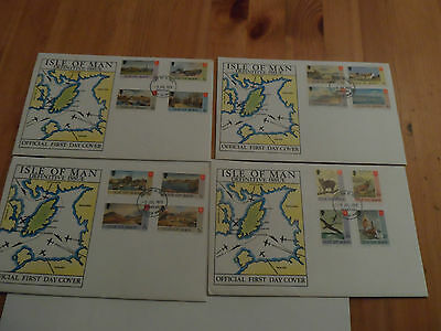 4x  ISLE OF MAN Post First Day Cover Day Of Issue 1973 ORIGINAL DEFINITIVE ISSUE