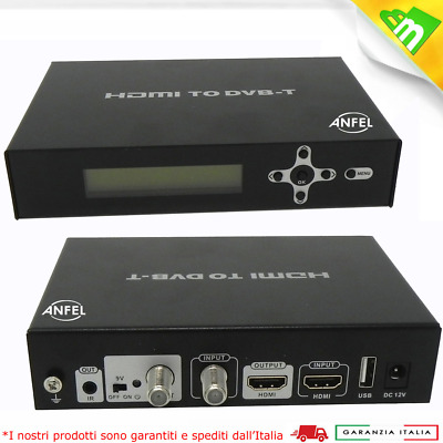 MODULATORE DIGITALE TERRESTRE FULL HD encoder / DVB-T Ingresso HDMI ,DHM-300