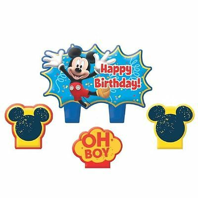 Mickey Mouse Birthday Candle Set (4-pc) - NEW