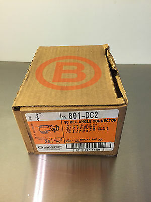 """Box of 25 Bridgeport 801-DC2 3/8"""" 90 Degree Angle Connector Compression Coupling"""