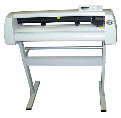 """Decal Making Startup Package 24"""" Vinyl Cutter+WinPCSIGN 2018 Basic+100ft vinyls"""