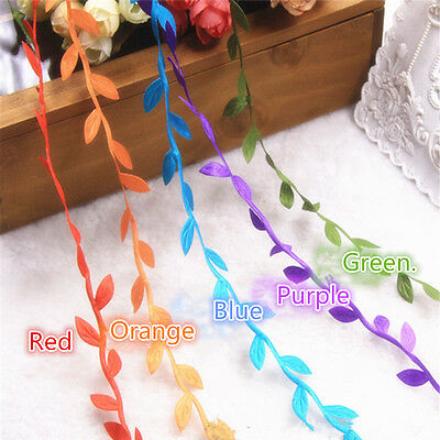 6 colors 10m Artificial Green Leaves Wreath Garland Wedding Party Mariage Green