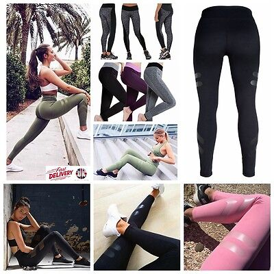 Womens Ladies Sports Pants Yoga Fitness Running Leggings Gym Exercise Trousers