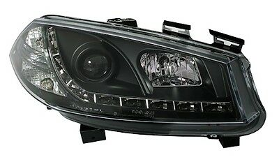 Phares Feux Avant Av Devil Eyes Noir Led M1 Renault Megane 2 Phase 1 9/02-12/05