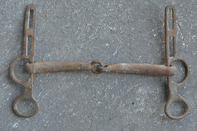 Antique Medieval Wrought Iron Horse Bridle Bit  Blacksmith Hand Forged