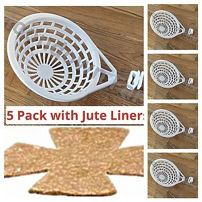 5 x PLASTIC CANARY NEST PAN & LINER FOR NESTING CANARIES, FINCHES BUDGIES, BIRDS