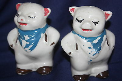 "Vintage Shawnee Smiley Pig Salt And Pepper 3"" X 1.75"" X 2.5"""