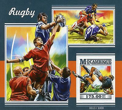 Mozambique 2015 MNH Rugby 1v S/S Sports Stamps