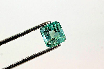 7.5mm 2.36 TCW Square Cut Natural Colombian Emerald Loose Gemstone