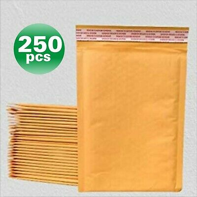 PolycyberUSA  250 pcs #0 Kraft Bubble Envelopes Mailers 6 X 10 (Inner 6x9)