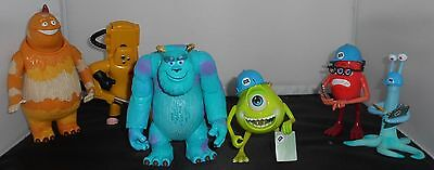 2001 Vintage 6 Piece Monsters Inc Completely Working Action Figures Mike Sully