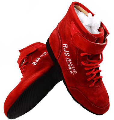 Rjs Racing Sfi 3.3/5 Racing Shoes Solid Red Mid Top Size 5 Shoes Kart Imsa Scca