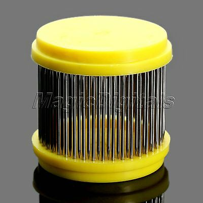 2Pcs Yellow Stainless Steel Beekeeping Queen Bee Isolator Needle Cage Hive Tools