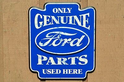 Ford Oval Only Genuine Parts Used Here Pub Sign - Wood Sign - Contour Cut - Bar