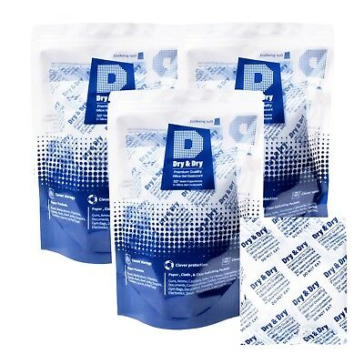 "100 gram X 20 PK ""Dry & Dry""High Quality Pure Reusable Silica Gel Packets"