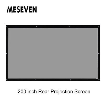 "200"" 16:9 Behind Back Rear Projection Screen Curtains Film for HD Projector Beam"