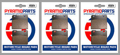 Suzuki GSX 1100 EFE/EFF/ESE 84-86 Front & Rear Brake Pads Full Set (3 Pairs)