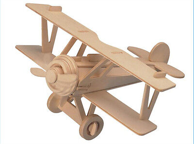 New Wood Assembly DIY Toy for 3D Wooden Model Puzzles of Nieuport 17 Plane