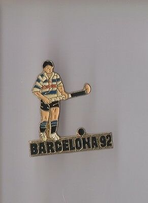 Pin's Jeux olympiques / Barcelone 1992 - Hockey sur gazon