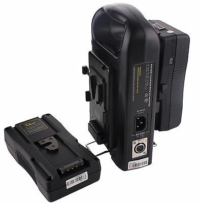 2PCS RL-130S 130Wh Camera Li-ion Battery V Lock Sony V-mount+Dual Power Charger