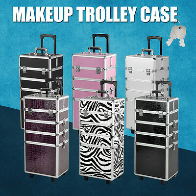 4 In 1 Vanity Makeup Nail case Beauty Cosmetic Hairdressing Case Box Trolley
