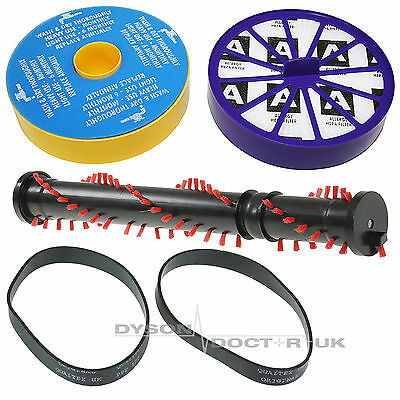 For Dyson DC07 Clutchless Brushbar, Pre + Post Motor Filters, Drive Belts Kit