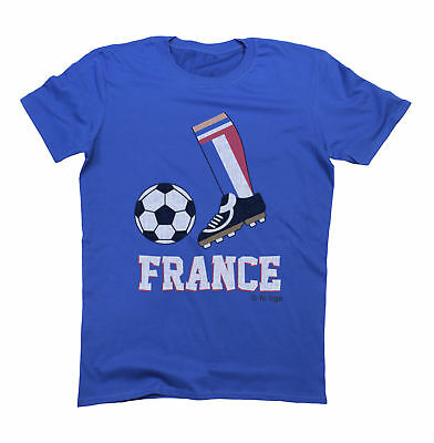 Kids FRANCE Football Boot T-Shirt WORLD CUP 2019 Boys Girls Childrens Retro Top