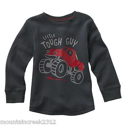 JUMPING BEANS Boys Shirt Size 12 months MONSTER TRUCK Thermal Cotton Top NEW
