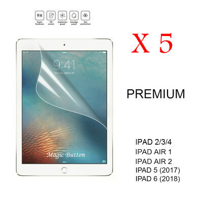 Ultra Clear LCD Film Screen Protector for Apple iPad 2 3 4 5 iPad Air 1 2