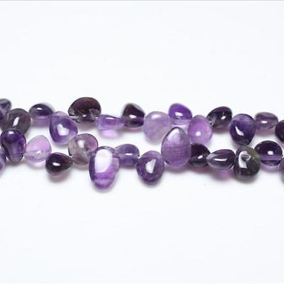 Strand Of 48+ Purple Amethyst 8-12mm Drop-Style Chip Beads GS3243