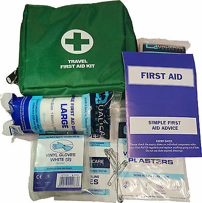 Qualicare Travel Kit 1Person-Small,Car,Bag,Pouch,Camping,Emergency,First Aid Kit