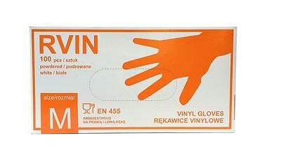 Box Of 100 Clear Vinyl Surgical Medical Tattoo Hygien Examination Gloves Size M