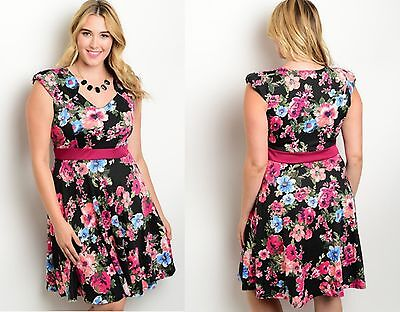Womens Ladies Floral Boho Wedding Evening Formal Party Dress Size 16 18 20 22 24
