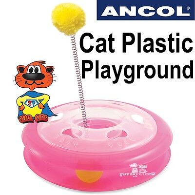 Ancol Cat Plastic Playground Acti Cat Kitten Pet Ball Toy
